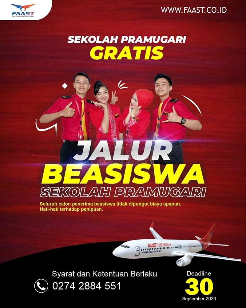 Beasiswa FAAST Penerbangan Tahun 2020